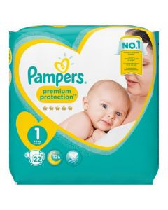 Pampers Premium Protection Taille 1 2-5 kg 22 Couches