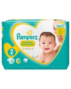 Pampers New Baby Taille 2 (Mini) 4-8 kg 31 Couches