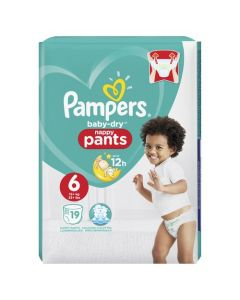 Pampers Baby-Dry Pants Taille 6 15+ kg 19 Couches-Culottes