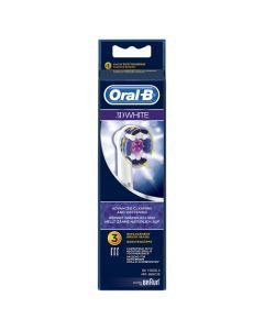 Oral-B 3D White Brossettes De Rechange Pour Brosse À Dents Électrique x3