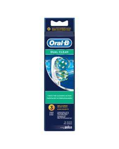 Oral-B Dual Clean Brossettes De Rechange Pour Brosse À Dents Électrique x3