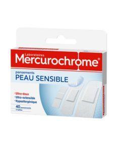 Mercurochrome Pansements Peau Sensible 40 Unités