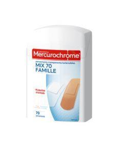 Mercurochrome Pansements Transparents et Tissus Boîte de 70 Unités