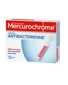 Mercurochrome Solution Antibactérienne 12 Unidoses