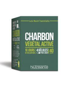 Nutrisanté Nutri'sentiel Charbon Végétal Activé 40 gélules