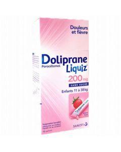 Doliprane Liquiz 200 mg 12 Sachets
