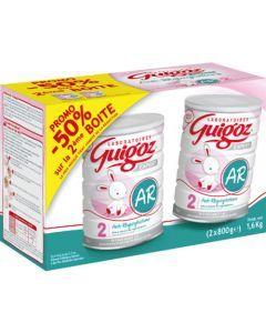 Guigoz Expert Lait Anti-Régurgitations 2ème Age 800g Lot de 2 - 50 % sur la 2ème boite
