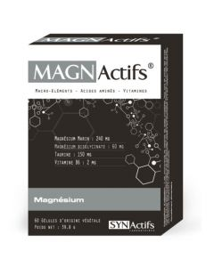 Synactifs Magnactifs Crampes Sommeil Stress 60 gélules