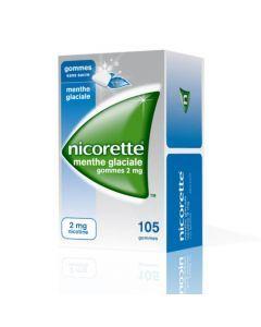 Nicorette Menthe Glaciale 2mg Sans Sucre 105 Gommes