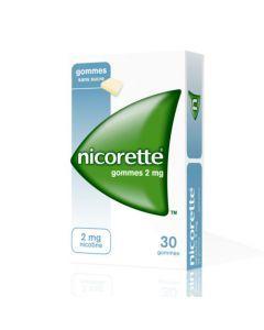 Nicorette 2mg Sans Sucre 30 Gommes