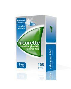 Nicorette Menthe Glaciale 4mg Sans Sucre 105 Gommes