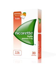 Nicorette Fruits 2mg Sans Sucre 30 Gommes