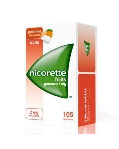 Nicorette Fruits 2mg Sans Sucre 105 Gommes