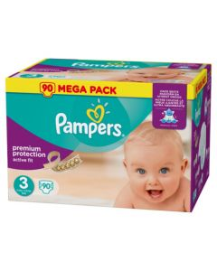 Pampers Active Fit Avec Canaux Absorbants Taille 3 (5-9kg) x 90 couches