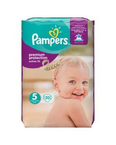 Pampers Active Fit Avec Canaux Absorbants Taille 5 (Junior) (11-23 Kg) x 20 couches