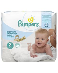 Pampers New Baby Sensitive Canaux Absorbants Taille 2 (3-6kg) x 27 couches