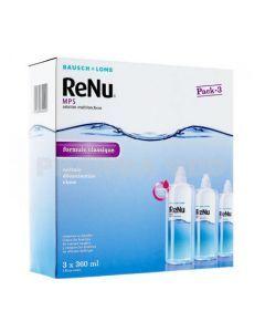 Renu MPS Solution Multifonctions Lentilles Souples 3 Flacons de 360ml