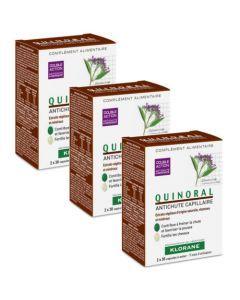 Klorane Capillaire Quinoral Antichute 3x60 Capsules Offert