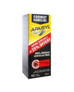 Apaisyl Xpert Format Familial 100% Radical Poux & Lentes 25% Offerts 250ml