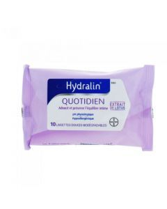 Hydralin Quotidien Lingettes x 10