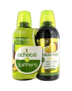 Milical Draineur Minceur Ultra Ananas Duo 2x500ml