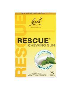 Bach Rescue Chewing-Gum Goût Menthe Verte 25 dragées Offert