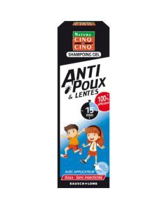 Cinq sur Cinq Shampooing Gel Natura Anti-Poux et Lentes Neutre flacon 100ml