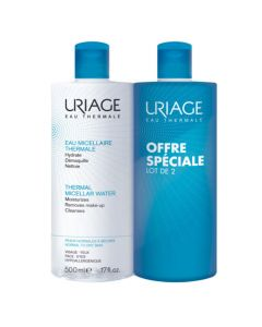 Uriage Eau Micellaire Thermale Peaux Normales à Sèches Duo 2x500ml