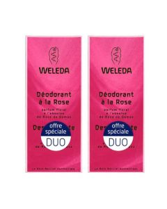 Weleda Déodorant Rose Lot de 2x100ml