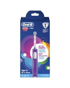 Oral-B Junior 6+ Violette Brosse À Dents Électrique Rechargeable