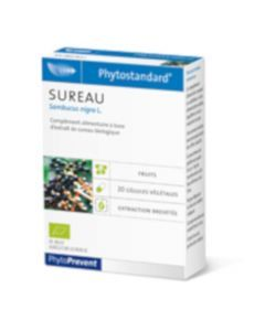 PhytoPrevent Phytostandard Sureau Bio 20 gélules végétales