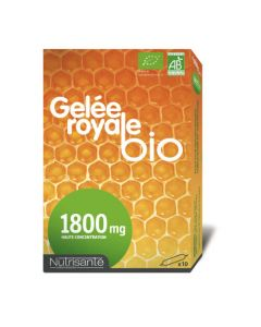 Nutrisanté Gelée Royale Bio 10 Ampoules