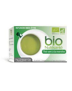Nutrisanté Thé Vert à la Menthe Bio 20 sachets
