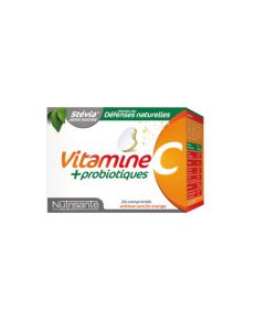 Nutrisanté Vitamine C + Probiotiques 2x12 comprimés