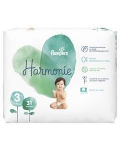 Pampers Harmonie Taille3 31Couches 6-10kg