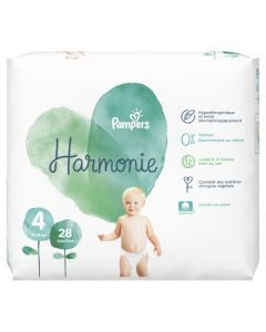 Pampers Harmonie Taille4 28Couches 9-14kg