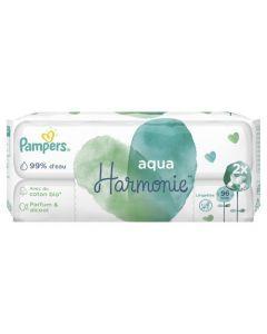Pampers Aqua Harmonie Lingettes Pour Bébé Lot de 2x48Lingettes