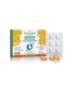 Puressentiel Pastilles Respiratoire aux 3 miels aromatiques - 24 Pastilles