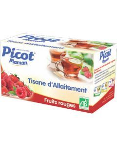 Picot Maman Tisane Allaitement Fruits Rouges Bio 20 Sachets
