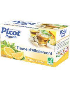 Picot Maman Tisane Allaitement Tilleul Citron Bio 20 Sachets