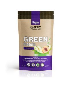 STC Nutrition Green Protein Smoothie Pomme-Pêche 100% Vegan 500g