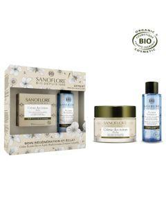 Sanoflore Coffret Reines Crème De Jour Riche Éclat Bio 50ml + Mini Eau Micellaire 50ml offerte