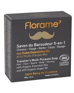 Florame Savon du Baroudeur 5 en 1 pour Homme 100g
