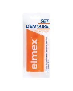 Elmex Kit de Voyage Brosse à Dents + Dentifrices 2x12ml