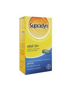 Supradyn Vital 50+ Vitamines Minéraux et Ginseng 30 Comprimés