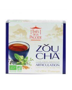 Pagode Thé Zou Cha Thé Vert Sencha de Chine 30 Infusettes