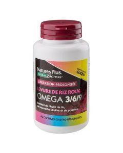 Nature's Plus Levure De Riz Rouge Omega 3/6/9 Coenzyme Q10 60 capsules gastro-résistantes