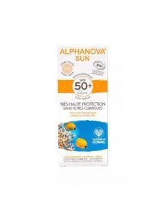 Alphanova Sun Crème Solaire Hypoallergénique Teinte Claire Bio SPF50+ Tube 50g