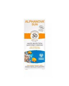 Alphanova Sun Crème Solaire Hypoallergénique Visage Bio SPF30 Tube 50g