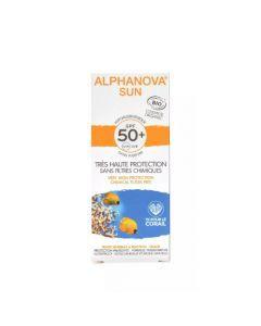 Alphanova Sun Crème Solaire Hypoallergénique Visage Bio SPF50+ Tube 50g